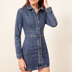 Reformation Arizona denim mini dress